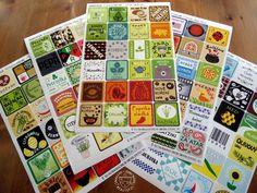 120 etiket na kořenky a jiné potravinové dózy