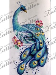 Peacock tattoo @Courtney Chappell I thought of you with this!