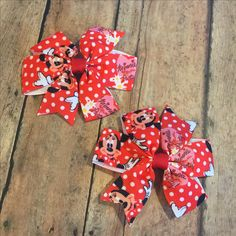 Custom order Minnie mouse inspired pigtail hair bow set! At approximately 3 inches these bows are the perfect size for pigtails!! #bowtifulblessings #bbgifts #etsy #etsyseller #etsyusa #hairbow #hairbows #bow #bows #girlfashion #customorder #custom #handmade  #pinwheels #shopLIBERTY #shoplocal #shopsmall