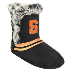 Women's Syracuse Orange Mid-High Faux-Fur Boots, Size:
