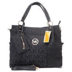 Michael Kors Classic Monogram Large Black Totes.More than 60% Off, I enjoy these bags.It's pretty cool (: JUST CLICK IMAGE~ | See more about monogram tote, michael kors outlet and michael kors.