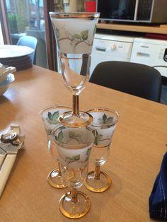Mooie likeur glaasjes