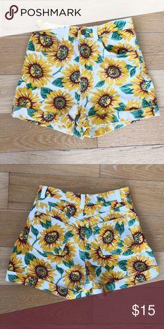 American Apparel High Waisted Sunflower Shorts American Apparel High Waisted Sunflower Shorts American Apparel Shorts