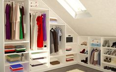 Kleiderschrank selber bauen unter der Dachschräge