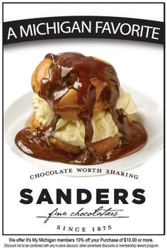 This is an dessert served at Hudson's Detroit.the Ice Cream Puff w/ Hot Sanders Fudge topping. Ice cream inside was Butter Pecan. Detroit Michigan, Detroit Downtown, Birmingham Michigan, Dearborn Michigan, Metro Detroit, Food C, Cat Food, Michigan Travel, Thing 1