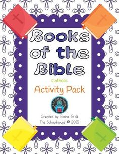 This is a growing activity pack for books of the Bible, which means that Ill be adding more to it as I create more pages.  If you buy it now, you get all the updates for the current price, as the cost will increase the more I add!The activities included in this pack are.2 Word Searches (1 New Testament and 1 Old Testament)1 Crossword Puzzle (Old Testament)3 Unscramble the Books of the Bible (2 for Old Testament and 1 for New Testament)Bookmark (Lists books of the Bible on the back and color…