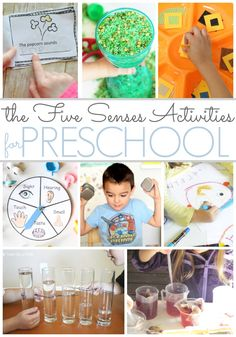 Preschool Activities That Feature the Five Senses. 5 Senses activities for home or your preschool classroom to make learning fun! - Pre-K Pages