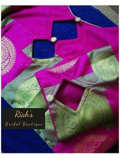 Brocade Blouse Designs, Patch Work Blouse Designs, Hand Work Blouse Design, Simple Blouse Designs, Blouse Designs High Neck, Stylish Blouse Design, Designer Blouse Patterns, Simple Designs, Lehenga