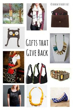 Your guide for gifts that give back! Use the extra expense the holiday season brings to do some good.