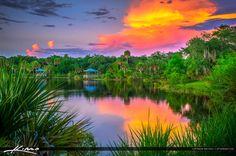 Woodstork Trail at Hillmoor Lake Park Port St Lucie Florida