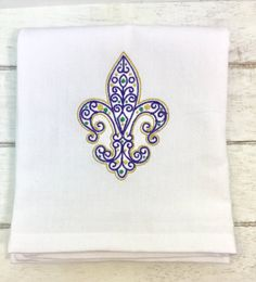 Mardi Gras Decor  Fleur de Lis Decor  Mardi Gras by EmbroideryJB
