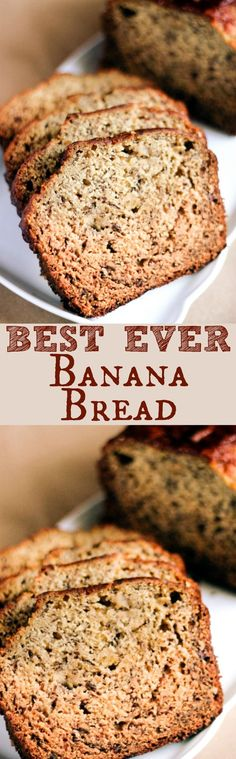 Best Banana Bread EVER! It's moist, delicious, and SO easy to make! With only a handful of ingredients needed, this whips up in no time! Banana Bread Muffins, Banana Chocolate Chip Muffins, Easy Banana Bread, Easy Bread, Banana Nut, Best Bread Recipe, Quick Bread Recipes, Banana Bread Recipes, Cooking Recipes