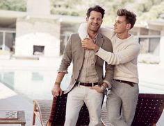 Tom and Cooper in the Thomas Elkin series by N.R. Walker --- ---- --- ---- (Jeremiah Brent and Nate Berkus)