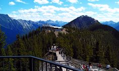 The walkway on top of Sulfur Mountain in Banff.