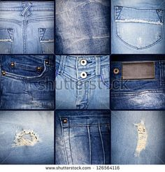 Denim collage - stock photo