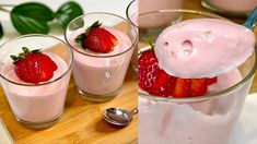 Do you have milk and strawberries? Make this wonderful Super creamy and delicious dessert! # 179 - YouTube Köstliche Desserts, Delicious Desserts, Frozen Strawberries, Sweet Recipes, Panna Cotta, The Creator, Brunch, Strawberry, Cooking
