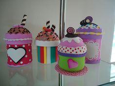 cupcakes de foami  - foamy / goma eva