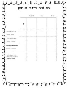 math worksheet : song for teaching partial sums  math  pinterest  teaching and songs : Partial Sums Addition Worksheets