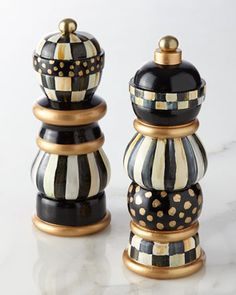 Courtly Check Salt & Pepper Mill Set by MacKenzie-Childs at Horchow.