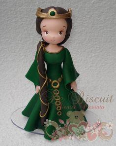 Mãe da Merida, Rainha Elinor   De Biscuit   2C1CF2 - Elo7