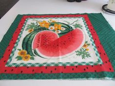 Watermelon pillow panels Home decor Summer by creationsbyjessi