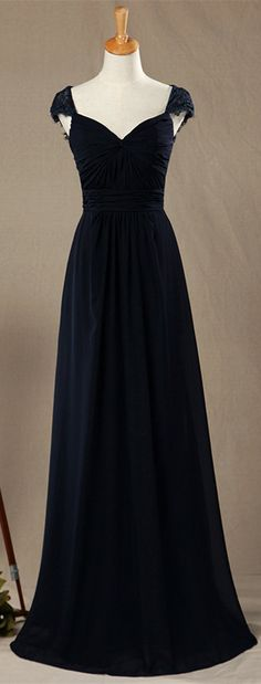 Black bridesmaid dresses,Cap Sleeves bridesmaid dresses,V-neck Long Bridesmaids Dresses,navy bridesmaid dresses,backless prom dresses,open back evening dresses