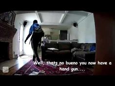 Watch Homeowner adds hilarious music to footage of foiled burglary @ Komando Video