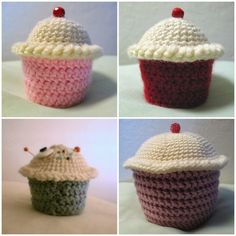Oh the Cuteness!: Free Crochet Pattern: Amigurumi Cupcakes! Whip up something sweet for your sweetie. This is a great beginner's amigurumi pattern!