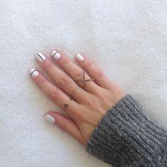 My version of nail art. #minimalistic #blackandwhite - SomethingnAvy