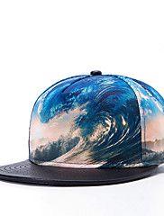 Women Men Fashion Street Dance Baseball Caps 3D Wave Printed Adjustable Cap – CAD $ 13.89