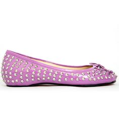 8d2c261d52d Here offer Personality Christian Louboutin Big Kiss Studded Leather Flats  Rose with lowest price -save