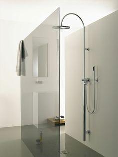 minimalistische badgestaltung ideen ebenerdige dusche