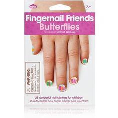 npw fingernail friends butterflies