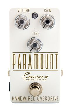 Emerson Custom Guitars Paramount Overdrive in white and gold