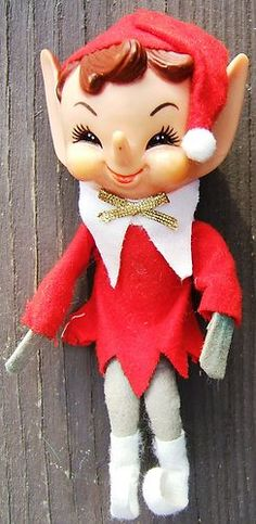 Look what I found on @eBay! http://r.ebay.com/GkvSw4 Vintage ELF PIXIE CHRISTMAS TREE ORNAMENT DECORATION RUBBER HEAD Japan 1960s