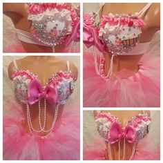 Cupcake Rave Bra and Bottoms Rave Outfits Rave by PasseDesigns, $100.00