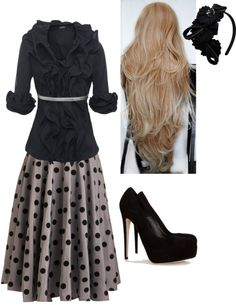 """Church, girl."" by chattertongirl ❤ liked on Polyvore"