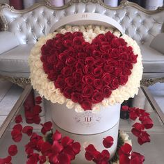 This Valentine's Day, sweep her off her feet with this beautiful arrangement. #JFL #Flowers #Luxury #ValentinesDay