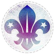 Fleur de lis - tax disc Tiger Scouts, Cub Scouts, Girl Scouts, Scout Quotes, Eagle Scout Ceremony, Arabesque, Scout Mom, Graffiti, Lsu Tigers