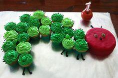 Very Hungry Caterpillar Birthday Cupcakes