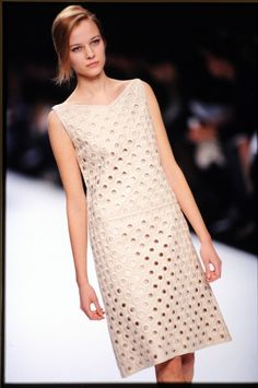 FW 2000 Cream colored dress with cut out dots #MARCtheDOT - Courtesy @Marc Camprubí Jacobs Intl
