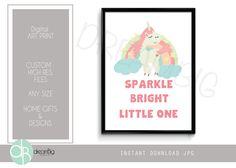 A personal favorite from my Etsy shop https://www.etsy.com/listing/520181380/unicorn-art-print-nursery-printable