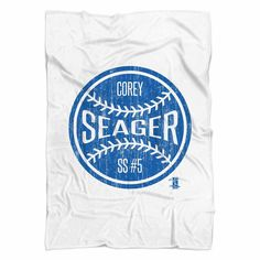 Corey Seager Ball B Los Angeles D Fleece Blanket MLBPA Officially Licensed