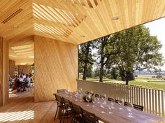 Sokol Blosser Tasting Room by Allied Works Architecture - wood texture