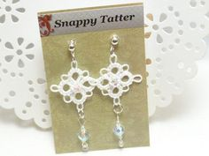 Rush earrings with Celestial crystal by SnappyTatter on Etsy