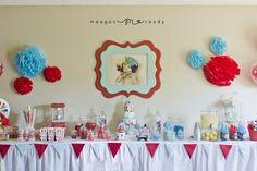 Circus Clown 1st Birthday Party,Kara's Party Ideas