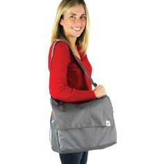 Made of an elegant heather gray fabric with a totally washable and waterproof plastic liner, ZoomTOTE works great with the ZoomKIT system or as a stand alone parenting bag. Gray Fabric, Heather Gray, Messenger Bag, Parenting, Plastic, Elegant, Stylish, Kids, Fashion