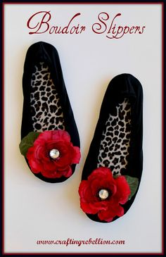 Mother's Day gift? Easy Boudoir Slippers ~ would be really easy for kids to make for their moms.