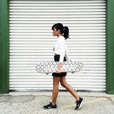 How To Travel The World & NOT Look Like A Tourist #refinery29  http://www.refinery29.com/fashion-travel-instagram#slide6  A SoCal state of mind with some staple Nikes and a Derek Lam skateboard.