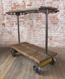 Industrial Garment Hanging Rack on Casters.  I wonder if I could recreate it?